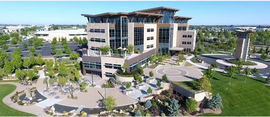 Scentsy headquarters building surrounded by large land and greenery