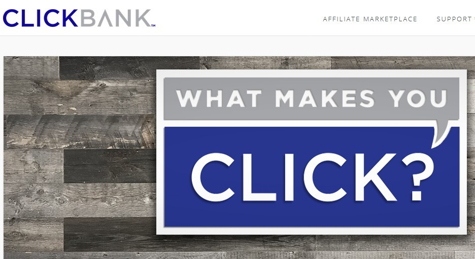 ClickBank logo to signify becoming affiliated with clickbank