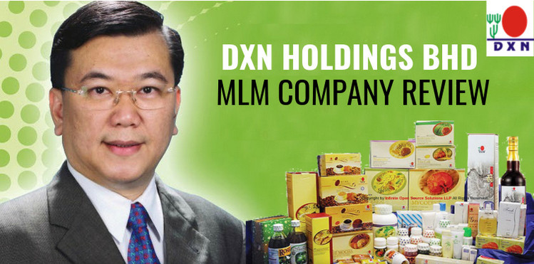 DXN holdings BHD with picture of the founder and products to signify checking out DXN reviews to sign