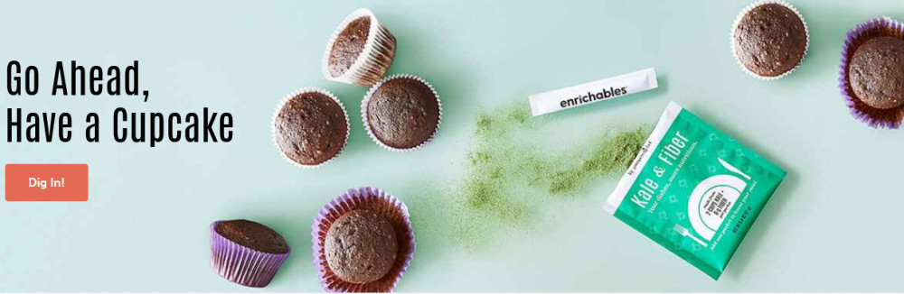 Pampered Chef showing products and words Go ahead, have a cupcake