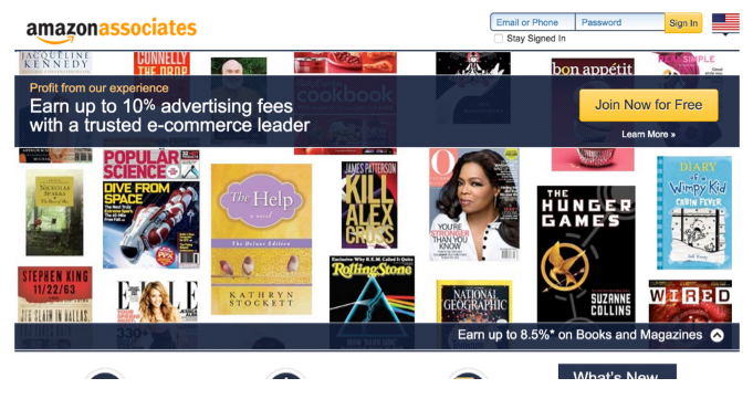 Amazon associates showing featured products