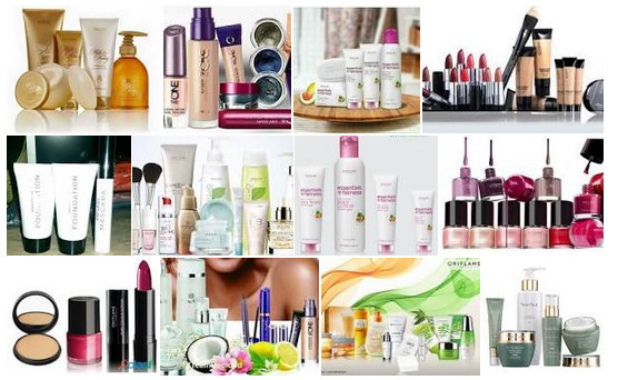 Oriflame cosmetics products to signify Younique vs. Oriflame cosmetics
