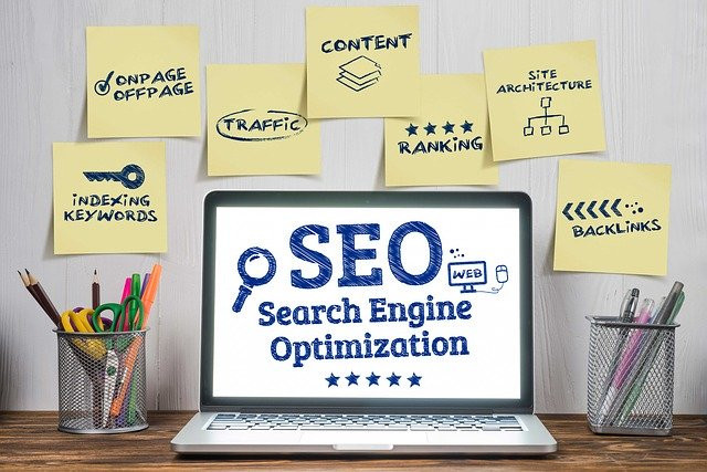 seo-written-on-a-laptop-screen-with-words-like-onpage-offpage-traffic-content-backlinks-etc-surrounding-it-to-signify-12-seo-tips-and-tricks-for-higher-rankings