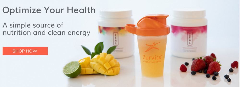 Zurvita products labelled 'Optimize your health, a simple source of nutrition and clean energy to signify Zurvita vs. Plexus worldwide