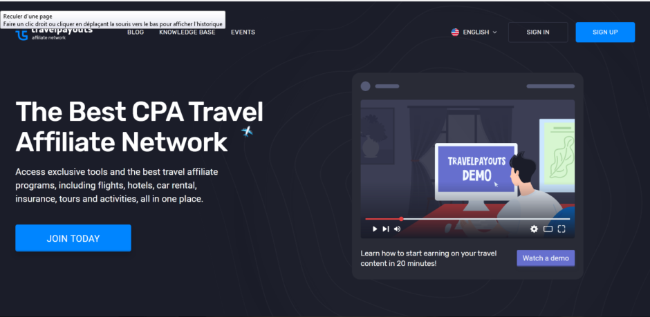Travelpayout's the best CPA travel affiliate network