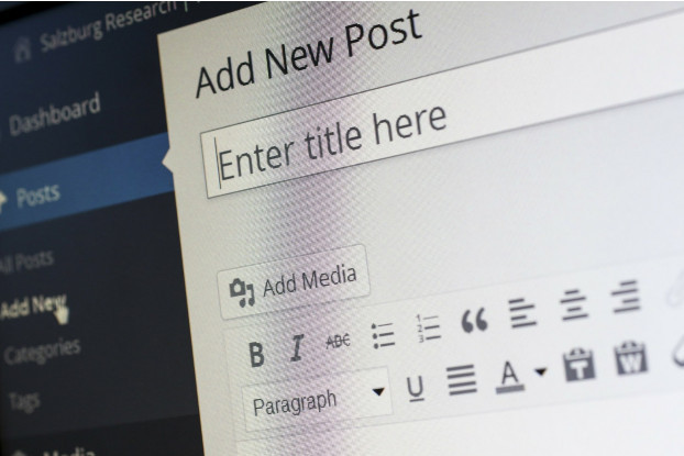 An image of a WordPress page for writing a new post